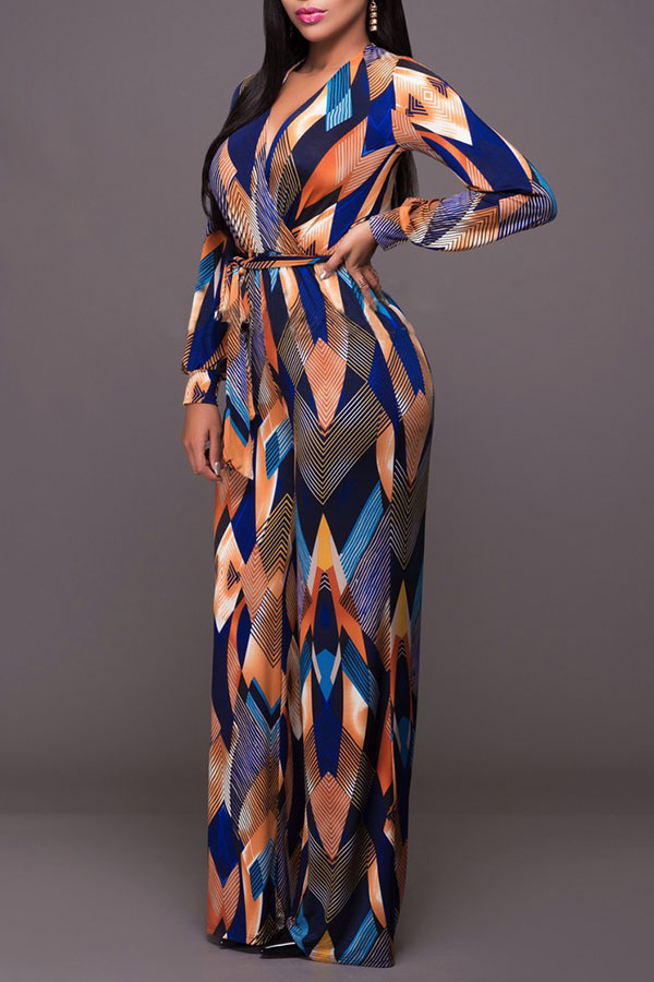 Lovely Street  Print Loose Multicolor One-piece Jumpsuit