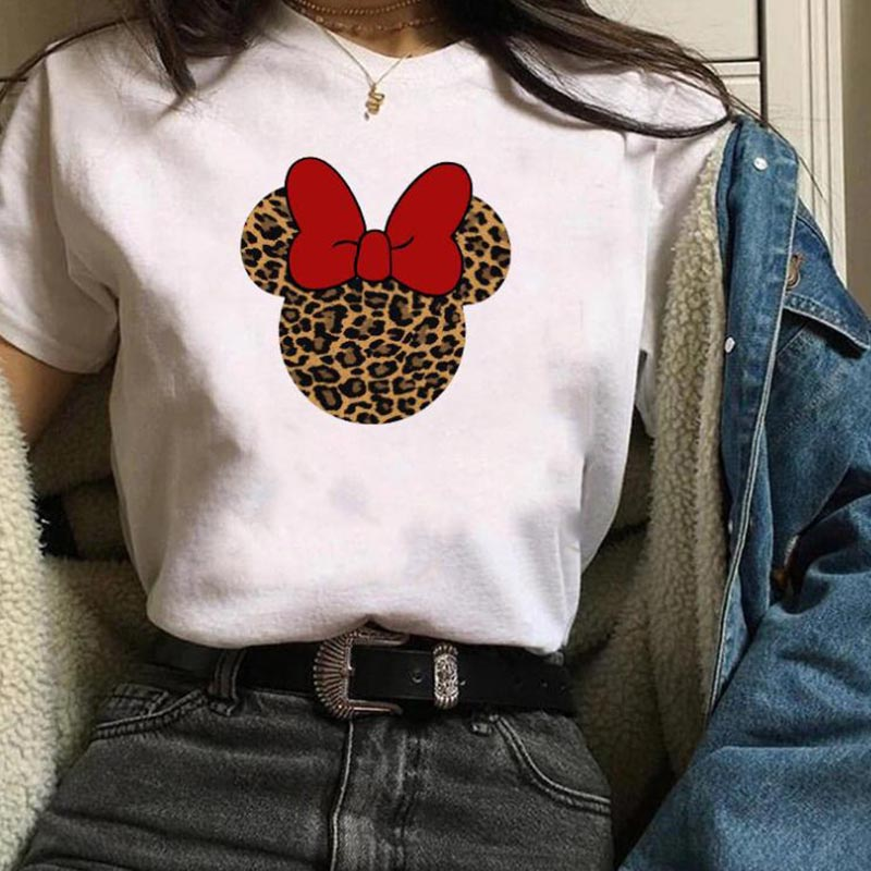 Lovely Casual O Neck Cartoon print White Plus Size T-shirt