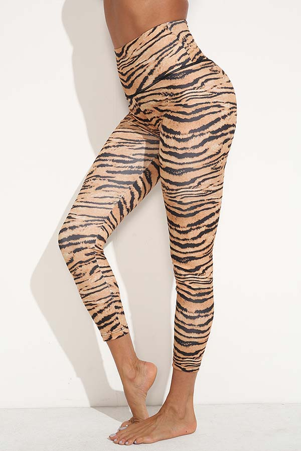 Lovely Trendy Tiger Print Leggings