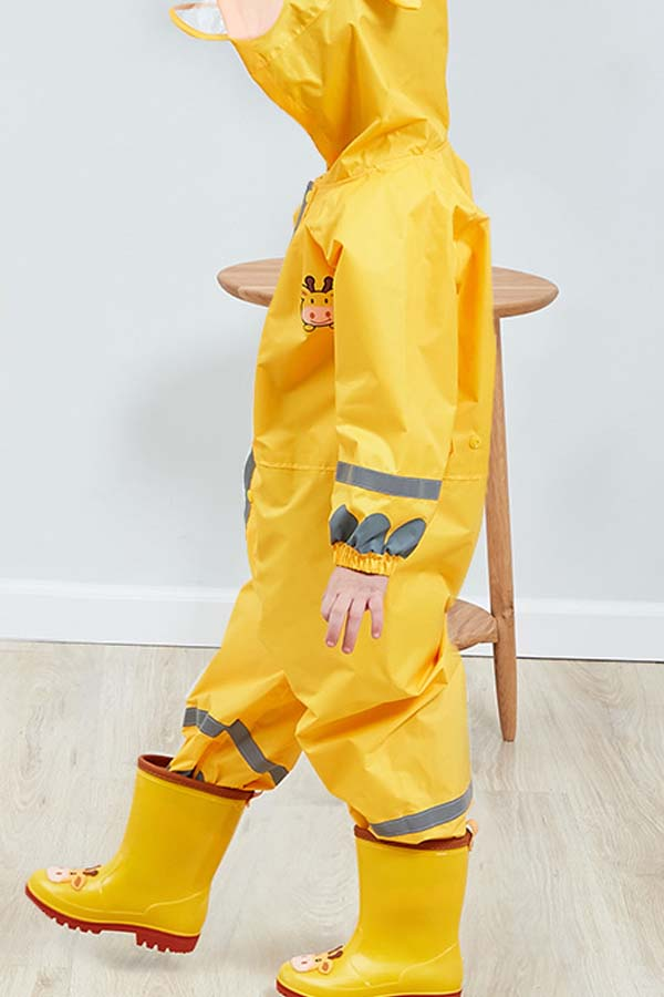 Lovely Dustproof Clothing Environmental Protection Lightweight Yellow Raincoat EVA Thickened