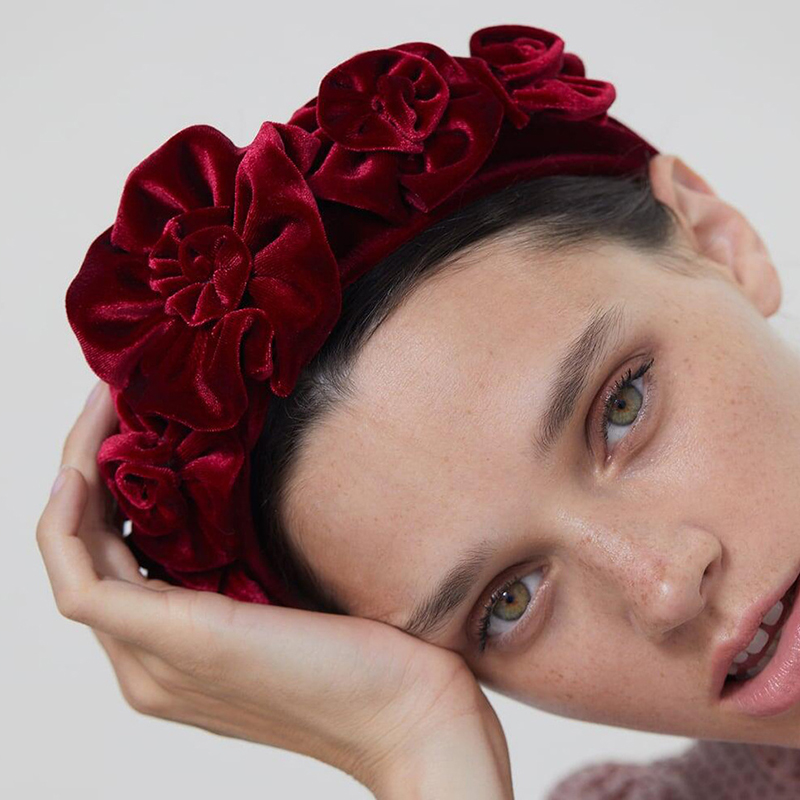 Lovely Stylish Fold Design Red Headband