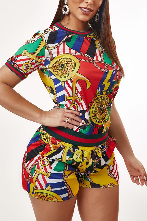 Lovely Leisure Print Multicolor Loungewear