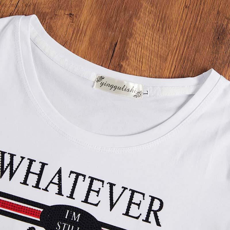 Lovely Leisure Letter Print White T-shirt