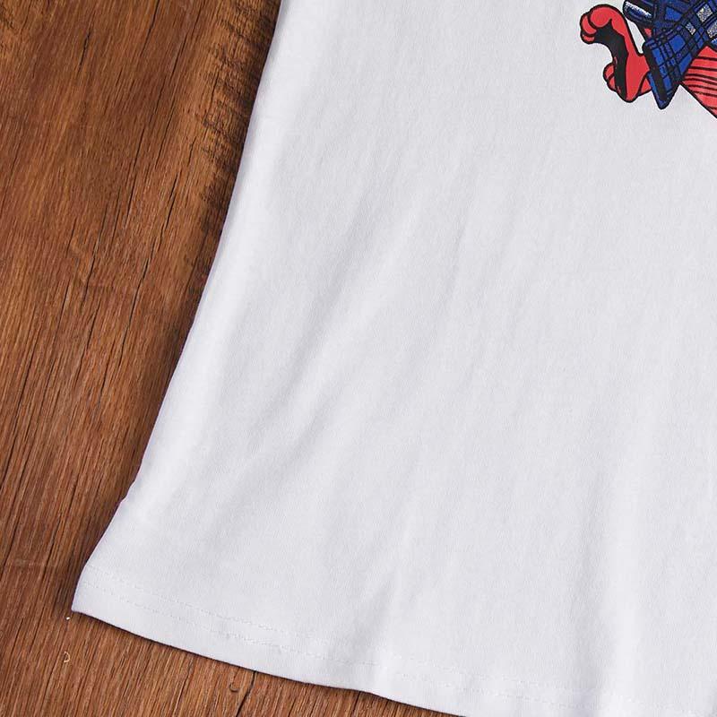 Lovely Leisure O Neck Cartoon Print White T-shirt