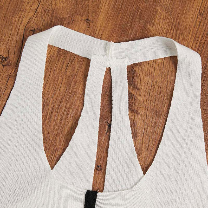Lovely Casual Zipper Design White Camisole