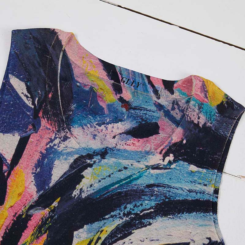 Lovely Casual Tie-dye Multicolor Camisole