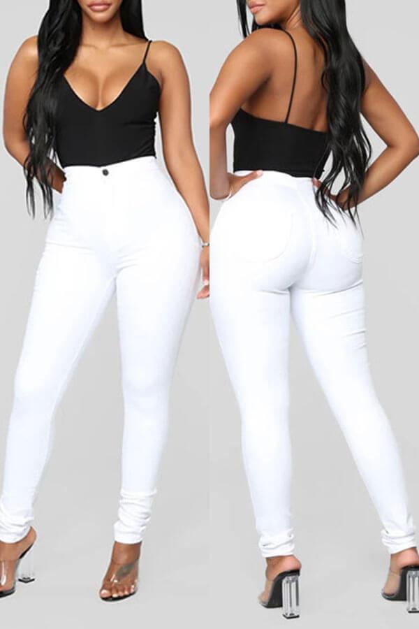 Lovely Trendy Skinny White Pants