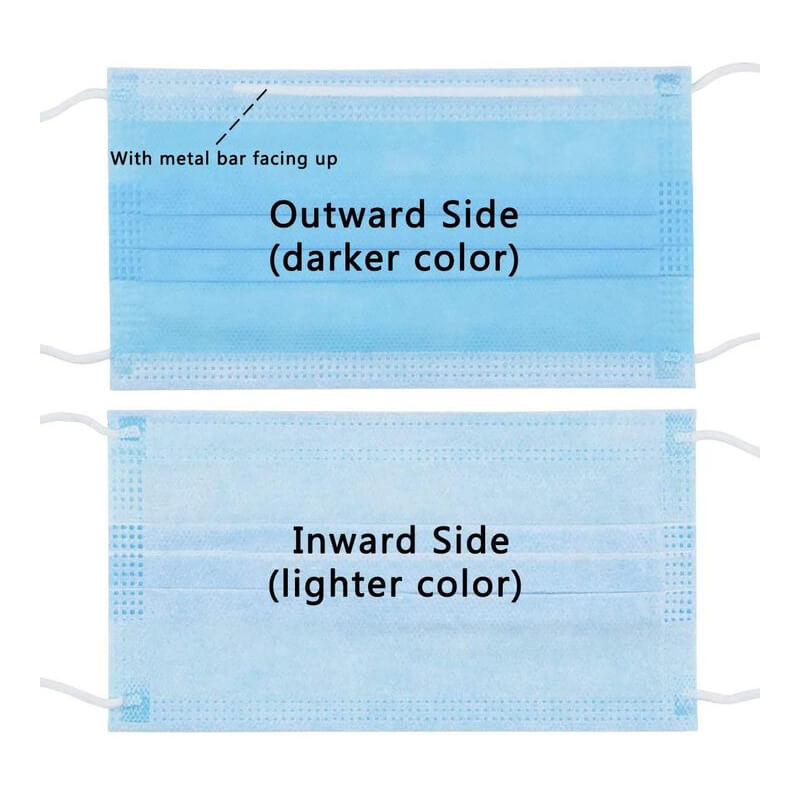 Lovely 50Pcs Disposable 3 Layers Dustproof Facial Protective Cover(Send It Out Within 24 Hours)