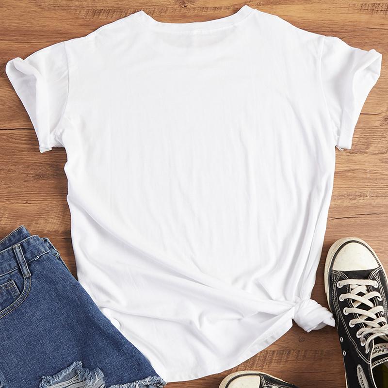 Lovely Leisure Hot Drilling Decorativet White T-shirt