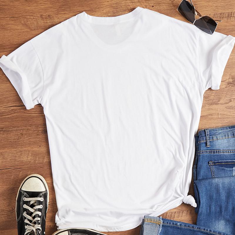 Lovely Leisure Cartoon Print White T-shirt