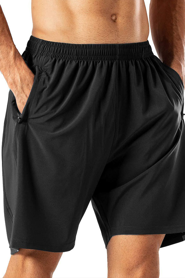 Lovely Casual Basic Black Shorts