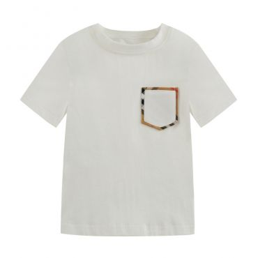 Lovely Leisure Patchwork White Boys T-shirt