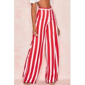 Lovely Casual Striped Loose Pants