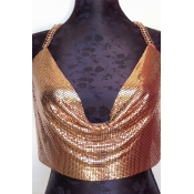 Lovely Sexy Sequined Decorative Gold Intimates Acc