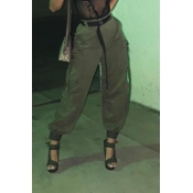 Lovely Trendy Pocket Patched Green Pants