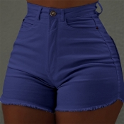 Lovely Leisure Basic Blue Shorts