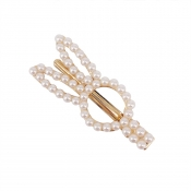 Lovely Trendy Pearl White Hairpin