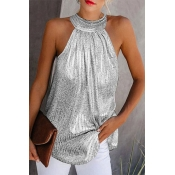Lovely Sexy Basic Silver Camisole