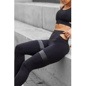 Lovely Sportswear Hollow-out Black Two-piece Pants