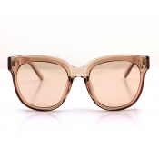 Lovely Casual Big Frame Design Brown Sunglasses