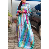 Lovely Trendy Print Multicoloe Maxi Dress