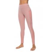 Lovely Sportswear Patchwork Dark Pink Leggings