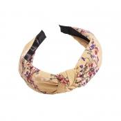 Lovely Sweet Floral Print Yellow Headband