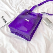 Lovely Trendy See-through Purple Messenger Bag