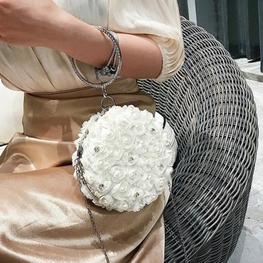 Lovely Trendy Patchwork White Messenger Bag