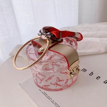 Lovely Sweet Print Red Crossbody Bag