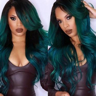 Lovely Street Basic Green Wigs