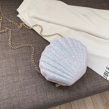 Lovely Trendy Shell White Crossbody Bag