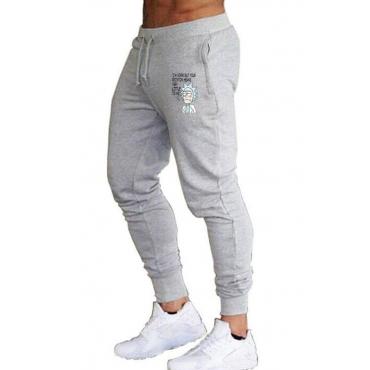 Lovely Casual Print Light Grey Pants Set