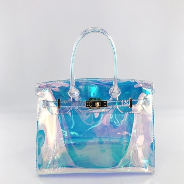 Lovely Trendy See-through Blue Crossbody Bag