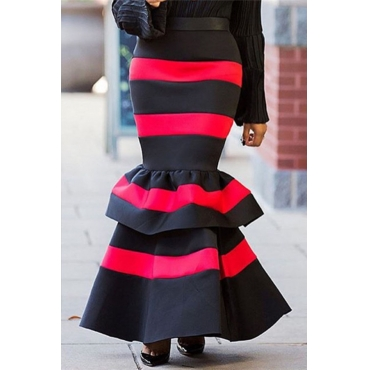 Lovely Trendy Striped Black Skirt