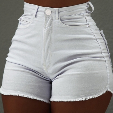Lovely Leisure Basic White Shorts
