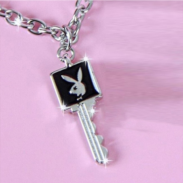 Lovely Trendy key Black Necklace