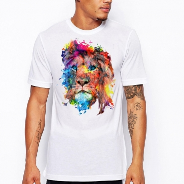 Lovely Leisure Print White T-shirt
