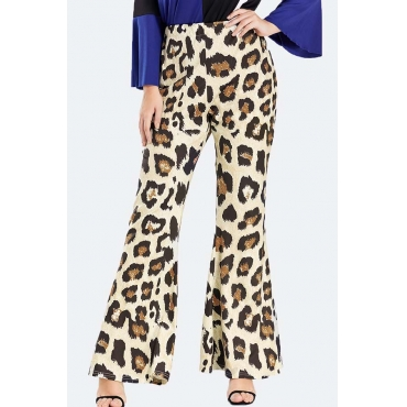 Lovely Casual Leopard Print Plus Size Pants