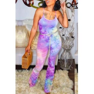 Lovely Leisure Tie-dye Multicolor One-piece Jumpsuit