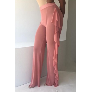 Lovely Chic See-through Pink Pants