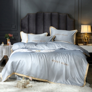 Lovely Cosy Patchwork Grey Bedding Set
