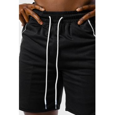 Lovely Sportswear Lace-up Black Shorts