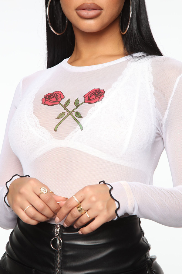 Lovely Trendy See-through White Base Layer