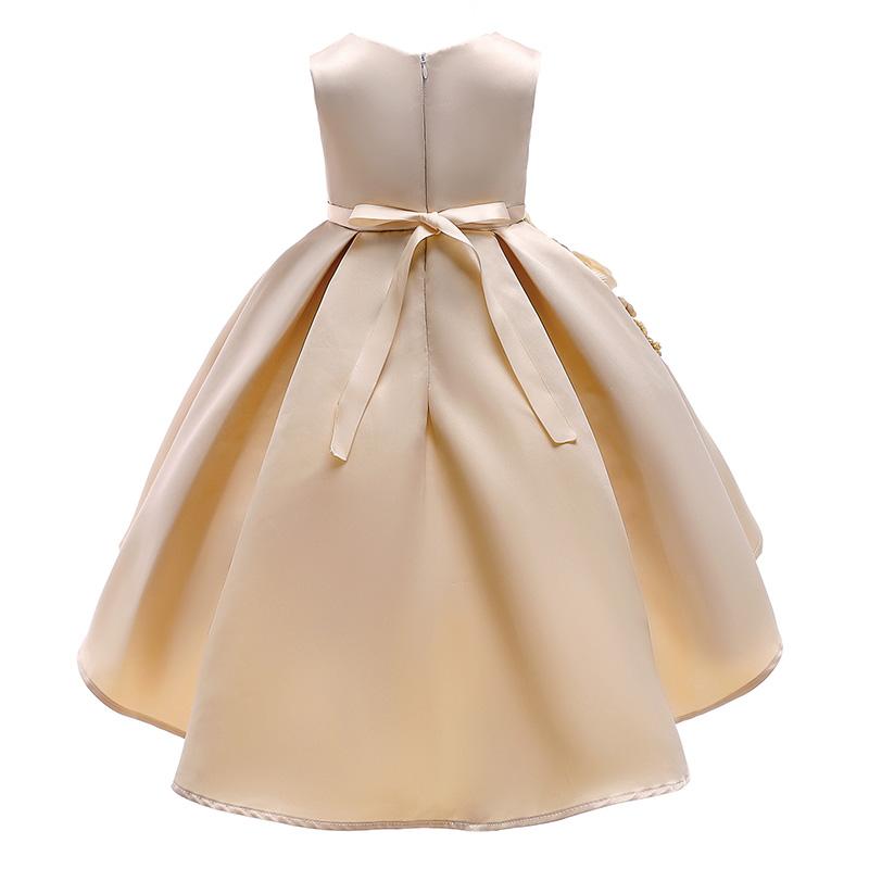 Lovely Trendy Patchwork Apricot Girl Knee Length Dress