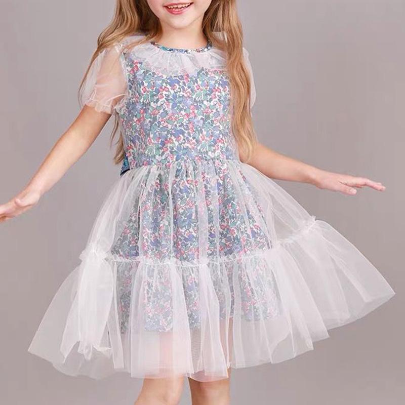 Lovely Sweet See-through MulticolorGirl Knee Length Dress