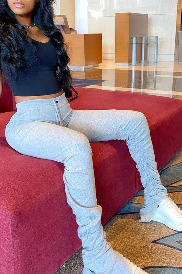 Lovely Stylish Basic Skinny Grey Pants