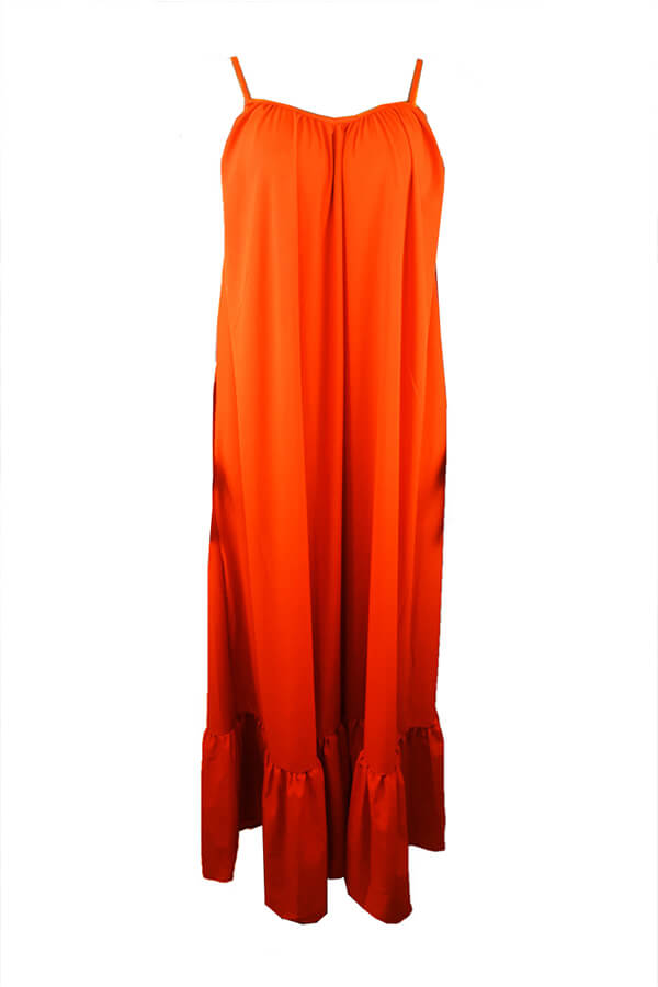 Lovely Casual Loose Croci Maxi Dress