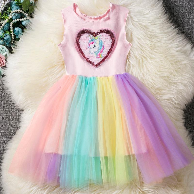 Lovely Casual Heart Pink Girl Ankle Length Dress