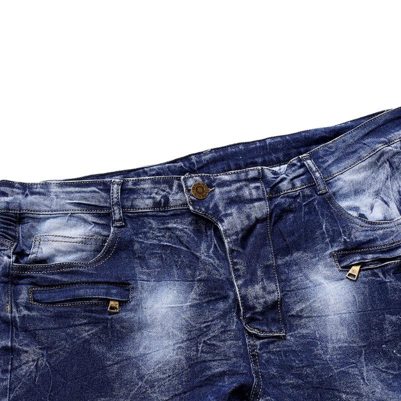 Lovely Stylish Fold Design Blue Jeans